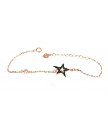 Bραχιόλι αστέρι - Ασήμι 925°