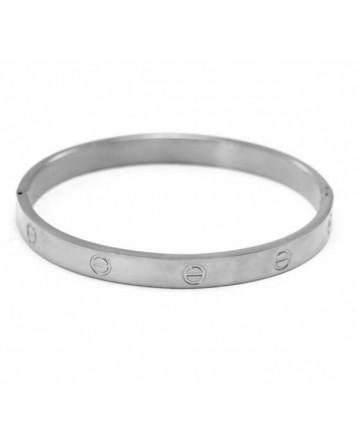 Γυναικείο βραχιόλι-Silver-Ατσάλι