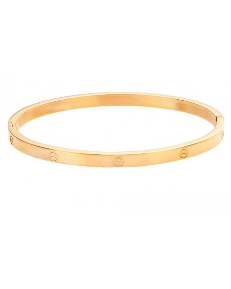 Γυναικείο βραχιόλι-Gold-Ατσάλι