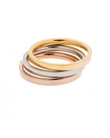 Δαχτυλίδι τρία χρώματα - Ατσάλι