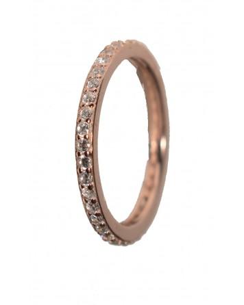 Δαχτυλίδι ολόβερο - Ασήμι 925°