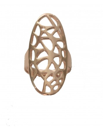Δαχτυλίδι- Ροζ χρυσό - Ασήμι 925°