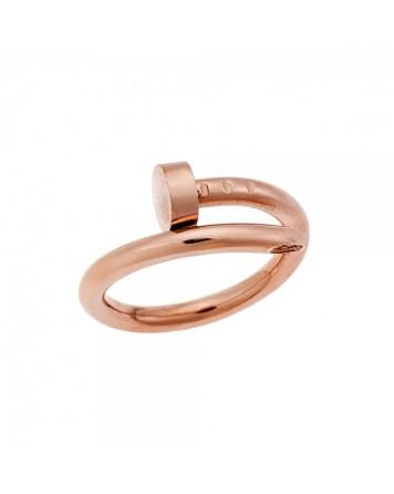 Δαχτυλίδι πρόκα-Ροζ χρυσό-Stainless Steel