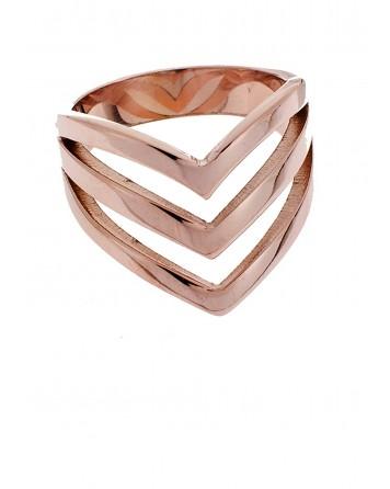 Δαχτυλίδι-Ροζ χρυσό-Ατσάλι