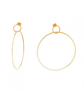 Loisir-Earrings-Stainless steel-Pink gold-03L15-00179