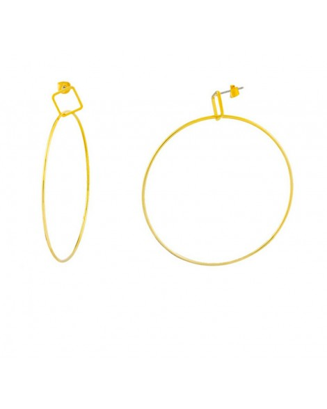 Loisir-Earrings-Stainless steel-Gold-03L15-00304