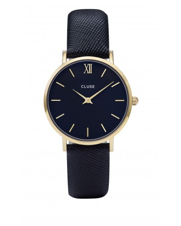 CLUSE-MINUIT GOLD/MIDNIGHT BLUE-Stainless Steel Strap-CL30014