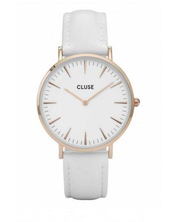 CLUSE-LA BOHÈME ROSE GOLD WHITE/WHITE-Stainless Steel Strap-CL18042