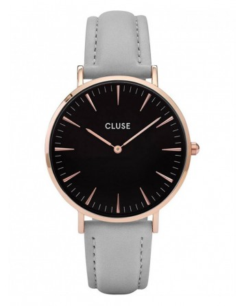 CLUSE-LA BOHÈME ROSE GOLD BLACK/GREY-Stainless Steel Strap-CL18018