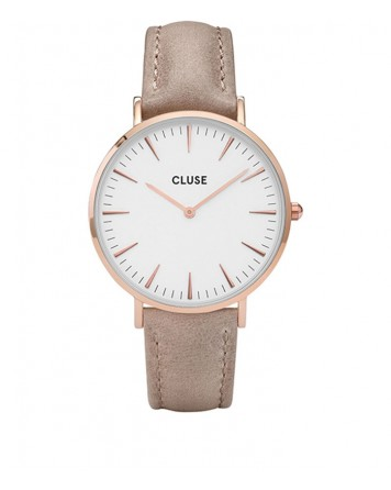 CLUSE-LA BOHÈME ROSE GOLD WHITE/HAZELNUT-Stainless Steel Strap-CL18031