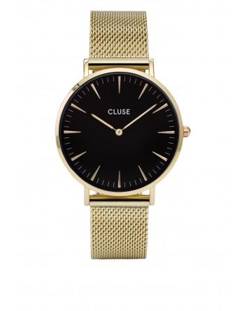 CLUSE-LA BOHÈME MESH GOLD/BLACK-Stainless Steel Strap-CL18110