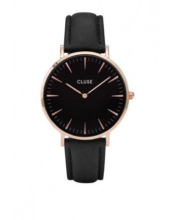 CLUSE-LA BOHÈME ROSE GOLD BLACK/BLACK-Stainless Steel Strap-CL18001