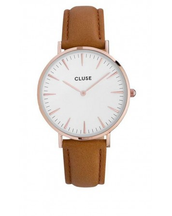 CLUSE-LA BOHÈME ROSE GOLD WHITE/CARAMEL-Stainless Steel Strap-CL18011