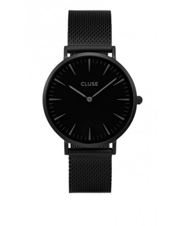 CLUSE-LA BOHÈME MESH FULL BLACK-Stainless Steel Strap-CL18111