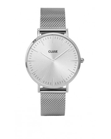 CLUSE-LA BOHÈME MESH FULL SILVER-Stainless Steel Strap-CL18114