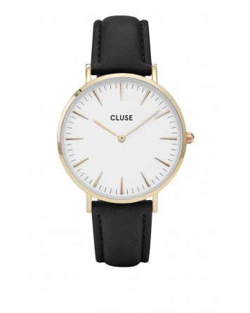 CLUSE-LA BOHÈME GOLD WHITE/BLACK-Stainless Steel Strap-cl18406