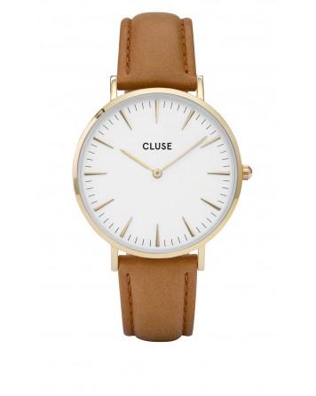 CLUSE-LA BOHÈME GOLD WHITE/CARAMEL-Stainless Steel Strap-CL18409