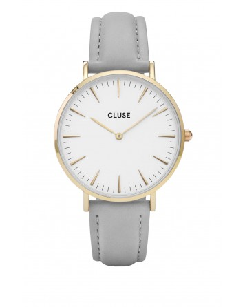 CLUSE-LA BOHÈME GOLD WHITE/GREY-Stainless Steel Strap-cl18414