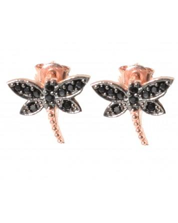 Καρφωτά σκουλαρίκια-Ροζ χρυσό - Ασήμι 925°