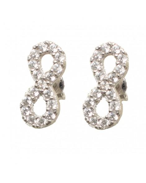 Καρφωτά σκουλαρίκια άπειρο - Ασήμι 925°