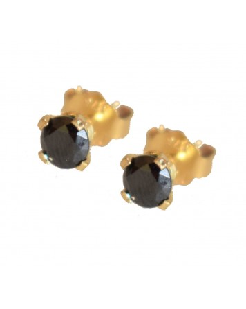Καρφωτά σκουλαρίκια μονόπετρο - Χρυσό 9