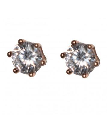 Καρφωτά σκουλαρίκια μονόπετρο - Ασήμι 925°